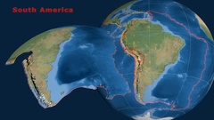 South America tectonics featured. Satellite imagery Stock Footage