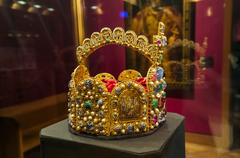 Crown in Museum Hofburg palace in Vienna Austria Stock Photos