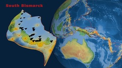 South Bismarck tectonics featured. Natural Earth Stock Footage