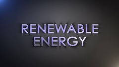 RENEWABLE ENERGY Explosion Keywords Animation Stock Footage