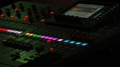 Professional Audio Console In A Concert Stock Footage