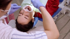 Teeth Whitening. Application of whitening gel to the teeth. stomatology. Ultra Stock Footage