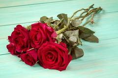 Bouquet of red roses. Stock Photos