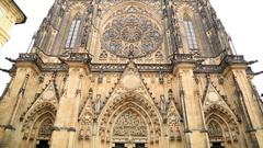 Famous St Vitus cathedral in Prague 2 Stock Footage