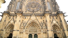 Famous St Vitus cathedral in Prague Stock Footage