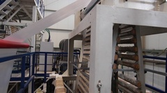 Industrial plastic extruder in a factory Stock Footage