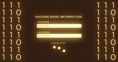 Hacking Online Digital Banking Website Interface Stock Footage