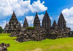 Prambanan temple near Yogyakarta on Java island - Indonesia Stock Photos