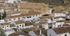 Ascending view on Alcazaba fortress in Antequera Stock Footage