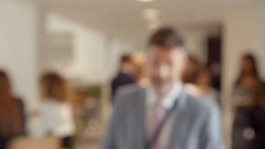 Portrait Of Male Delegate During Break At Conference Stock Footage