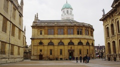 Time Lapse Sequence Of Sheldonian Theatre In Oxford Stock Footage