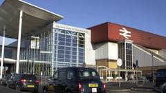 Exterior Of The Birmingham International Train Station Stock Footage
