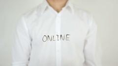 Online, Written on Glass Stock Footage