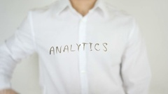 Analytics, Written on Glass Stock Footage