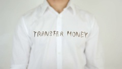 Transfer Money, Written on Glass Stock Footage