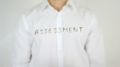 Assessment, Written on Glass Stock Footage