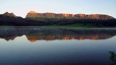 Brooks Lake Breccia Cliffs Mountain Range Shoshone National Forest Stock Footage