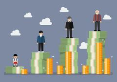 Businessman with retirement money plan Stock Illustration