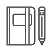 Sketchbook line icon Stock Illustration