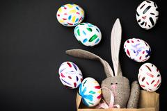 Easter bunny in a packet Stock Photos