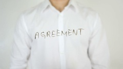 Agreement, Written on Glass Stock Footage