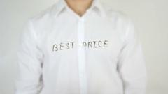 Best Price, Written on Glass Stock Footage