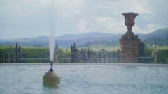 Fountain in Tuscany - 25FPS PAL Stock Footage