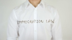 Immigration Law, Written on Glass Stock Footage