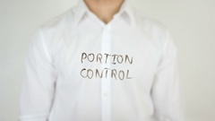 Portion Control, Written on Glass Stock Footage