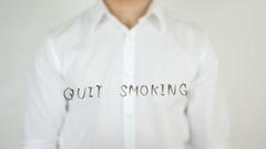 Quit Smoking, Written on Glass Stock Footage