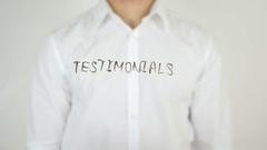 Testimonials, Written on Glass Stock Footage