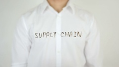 Supply Chain, Written on Glass Stock Footage