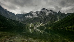 Mountain lake in Poland Tatra, Morskie Oko - Time lapse Stock Footage