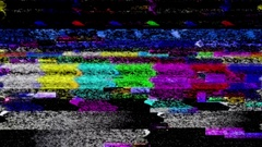 TV color bars malfunction - Data Glitch 011 Stock Footage Stock Footage