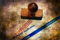 Mortgage application grunge  Stock Photos