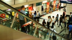 Singaporeans in the subway/underground transit system in Singapore. Stock Footage