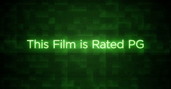 Glitchy Modern Movie Rating Text   PG Stock Footage