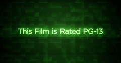 Glitchy Modern Movie Rating Text   PG-13 Stock Footage