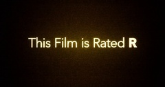 Glitchy Modern Movie Rating Text   R Stock Footage
