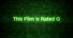 Glitchy Modern Movie Rating Text   G Stock Footage