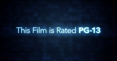 Glitchy Modern Movie Rating Text   PG13   1 Stock Footage