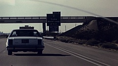 USA 1985: driver's point of view Stock Footage