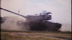 Military power on display at public air show, 4033 vintage film home movie Stock Footage