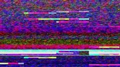 Streaming video break down - Data Glitch 014 Stock Video Stock Footage
