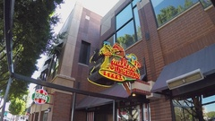 Mellow Mushroom Pizza Restaurant Sign Zoom  Tempe AZ Stock Footage