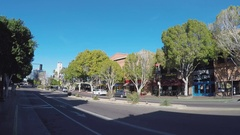 Shady Downtown Street With Storefronts  Tempe Arizona Stock Footage