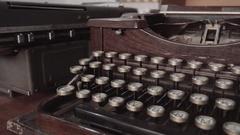Antique typewriter keys close up Stock Footage
