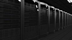Modern server room dolly seamless loop 4K animation. Cloud technologies, ISP Stock Footage