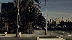 San Diego, USA 1985: traffic on the Ocean Avenue Stock Footage