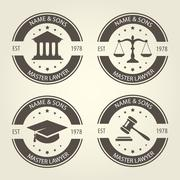 Lawyer bureau emblems and labels Piirros